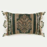 Marietta Bead Tassel Pillow Green Rectangle