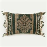 Marietta Bead Tassel Pillow Green Rectangle