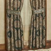 Marietta Wide Tailored Curtain Pair Green