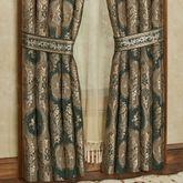 Marietta Wide Tailored Curtain Pair Green