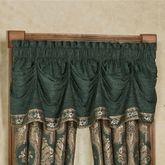 Marietta Tuck Valance Green 75 x 20