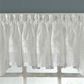 Crochet Gathered Valance White 58 x 14