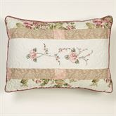 Daydream Embroidered Piped Pillow Rose Rectangle