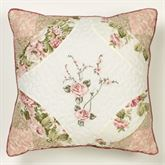 Daydream Embroidered Piped Pillow Rose 18 Square