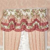 Daydream Scalloped Valance Rose 72 x 20
