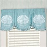 Ocean Tides Scalloped Valance Cerulean Blue 60 x 20