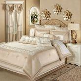 Elegante Sequined Comforter Set Light Cream