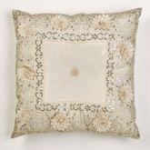 Elegante Sequined Tufted Pillow Light Cream 20 Square