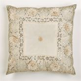 Elegante Sequined Tufted Pillow Light Cream 20 Square