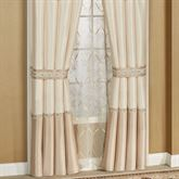 Elegante Lined Tailored Curtain Pair Light Cream