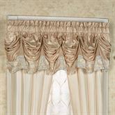 Elegante Sequined Tuck Valance Light Gold 90 x 18