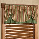 Riverpark Layered Tie Valance Multi Warm 60 x 18