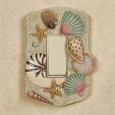 At the Beach Single Dimmer Rocker Switch Natural