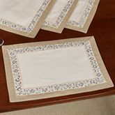 Elegante Placemats Light Cream Set of Four