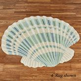 Clearwater Scallop Shell Shaped Rug Multi Cool