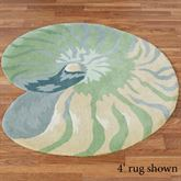 Clearwater Nautilus Shell Shaped Rug Multi Cool