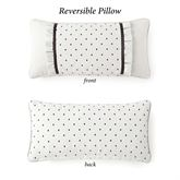 Valencia Reversible Embroidered Pillow Off White Rectangle