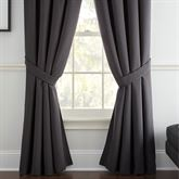 Valencia Wide Tailored Curtain Pair Black 100 x 84