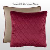 Izabelle Reversible Quilted Sham Claret European