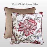 Izabelle Reversible Jacobean Pillow Claret 18 Square