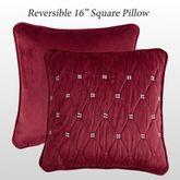 Izabelle Quilted Pillow Claret 16 Square