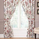 Izabelle Wide Tailored Curtain Pair Claret 100 x 84