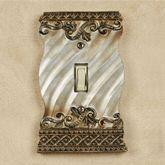 Monacio Single Switch Antique Silver