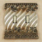 Monacio Double Switch Antique Silver