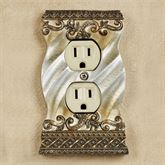 Monacio Single Outlet Antique Silver