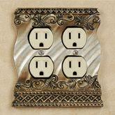 Monacio Double Outlet Antique Silver