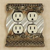 Monacio Double Outlet Antique Silver