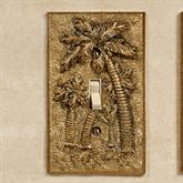 Palm Trees Single Switch Antique Gold