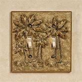 Palm Trees Double Switch Antique Gold