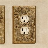 Palm Trees Single Outlet Antique Gold