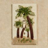 Palm Trees Single Switch Multi Earth