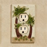 Palm Trees Single Outlet Multi Earth