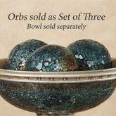 Kyara Mosaic Orbs Blue Set of Three