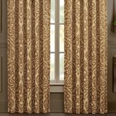 Sicily Gold Wide Tailored Curtain Pair 100 x 84