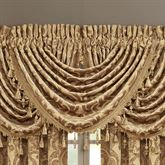 Sicily Gold Waterfall Valance 43 x 33