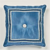 Seleca Tufted Pillow Steel Blue 18 Square