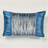 Seleca Pieced Pillow Federal Blue Rectangle