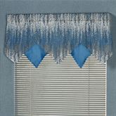Seleca Pieced Ascot Valance Federal Blue 60 x 18