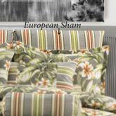 Tropical Lily Striped Tailored Sham Dark Gray European