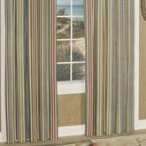 Tropical Lily Striped Wide Curtain Pair Dark Gray