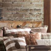 Huntsman Reversible Piped Sham Multi Earth European