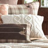 Huntsman Tailored Knit Pillow Multi Earth 18 Square
