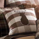 Huntsman Buck Pillow Multi Earth 18 Square
