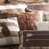 Huntsman Faux Fawn Hide Pillow Multi Earth 18 Square