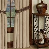 Saratoga Solid Color Curtain Panel Almond 48 x 84