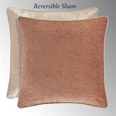 Sunrise Coral Reversible Piped Sham European